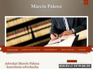 Zrzut strony Adwokat Pakosz - Warszawa