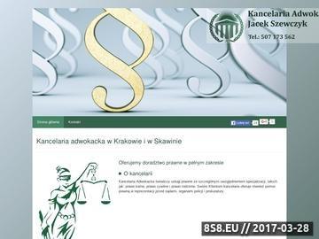 Zrzut strony Sprawy karne Kraków