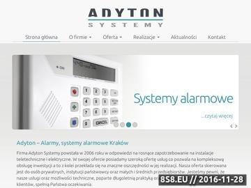 Zrzut strony Alarmy Kraków