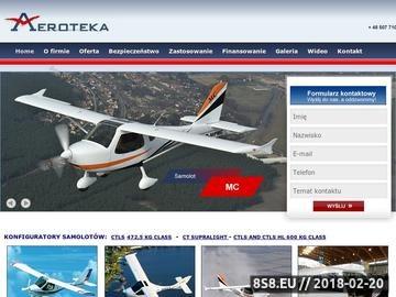 Zrzut strony AEROTEKA - kurs pilotażu