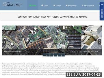 Zrzut strony PHU AGA- MET Szrot Warszawa Strażacka