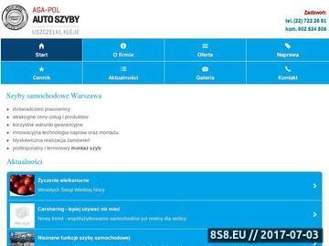 Zrzut strony Naprawa szyb w samochodach dostawczych Warszawa