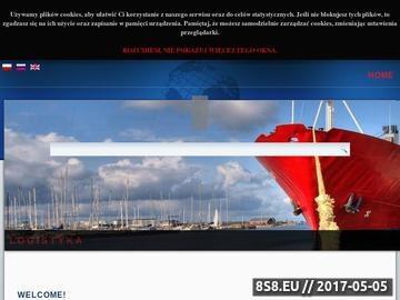 Zrzut strony Agencja Celna AGM logistyka transportowa