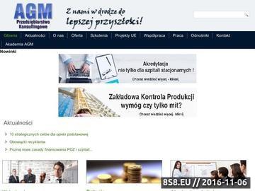 Zrzut strony AGM