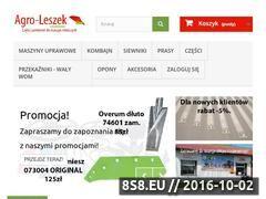Miniaturka Sklep z częściami do maszyn rolniczych (agroleszek.pl)