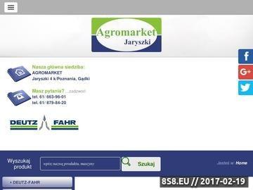 Zrzut strony AGROMARKET maszyny rolnicze Poznań