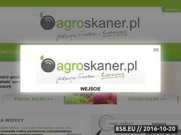 Zrzut strony Agroskaner.pl - największa giełda rolno-spożywcza