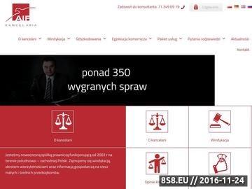 Zrzut strony Odszkodowania z AIF we Wrocławiu
