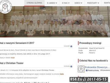 Zrzut strony Krakowskie Stowarzyszenie Aikido