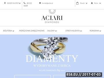 Zrzut strony Biżuteria i dodatki
