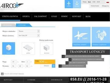Zrzut strony Transport lotniczy - najlepszy przewoźnik, spedycja jest łatwa