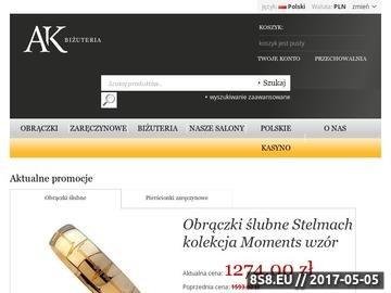 Zrzut strony Złote obrączki AK-Biżuteria