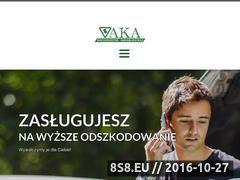 Miniaturka domeny www.aka-odszkodowania.pl