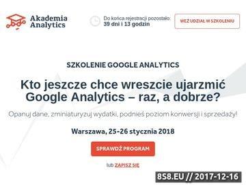 Zrzut strony Szkolenie Google Analytics