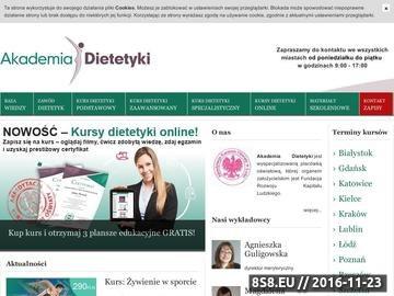 Zrzut strony Dietetyka - szkolenia, program