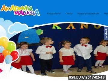 Zrzut strony Niepubliczne Przedszkole Akademia Malucha: profesjonalna opieka, Kozy, Bielsko