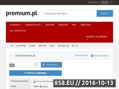 Miniaturka domeny www.akademiamw.pl