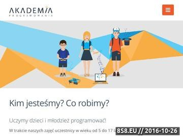 Zrzut strony Akademia programowania