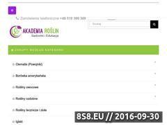 Miniaturka domeny www.akademiaroslin.pl