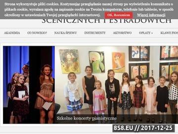 Zrzut strony Nauka gry na pianinie Warszawa