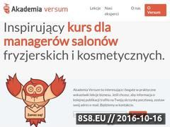 Miniaturka domeny akademiaversum.pl