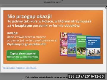 Zrzut strony Okazja Kurs Wychowawcy Kolonijnego przez Internet