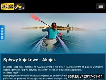 Zrzut strony Spływy kajakowe na Litwie i Suwalszczyźnie