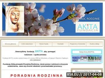 Zrzut strony Pomoc w uzależnieniach - Fundacja Akita Wrocław