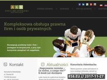 Zrzut strony Kancelaria Adwokacka Agata Klima-Nowak Szczecin