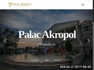 Zrzut strony Pałac Akropol - restauracja Lublin