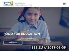 Thumbnail of School meal program for children in India Website