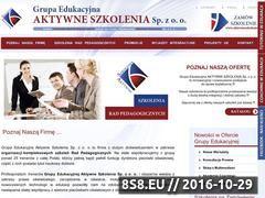 Miniaturka domeny aktywneszkolenie.pl