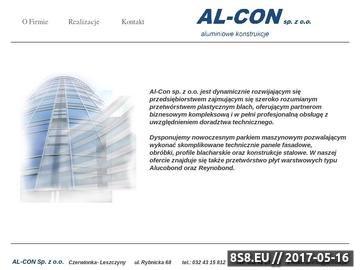 Zrzut strony Płyty warstwowe Al-Con