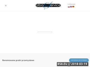 Zrzut strony ALBA SERVICE wyposażenie pralni