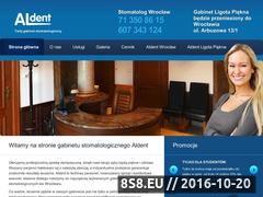Miniaturka domeny aldent.wroclaw.pl