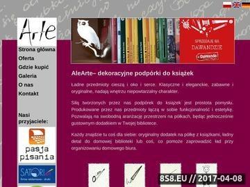 Zrzut strony Podpórki do książek