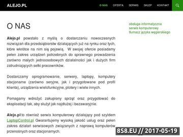 Zrzut strony Alejo.pl