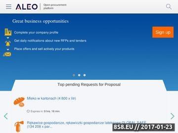 Zrzut strony Platforma handlowo-aukcyjna dla firm - Aleo