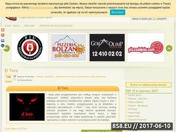 Zrzut strony Najlepsza pizza w Krakowie. Pizzeria i pizzerie w Krakowie