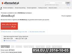 Miniaturka domeny www.alerandka.pl