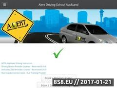 Alert Driving School - Driving Lessons Website