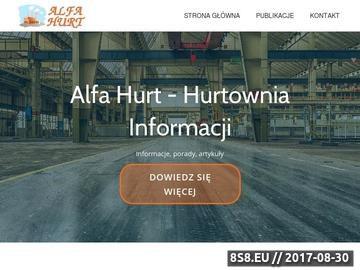 Zrzut strony Hurtownia Alfa. Import - Export