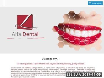 Zrzut strony Witamy na stronie gabinetu Alfa-Dental