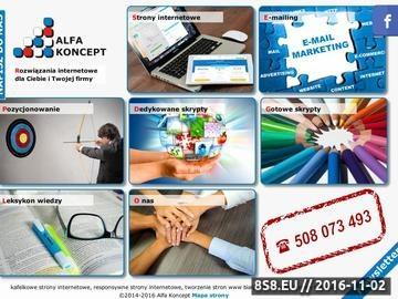 Zrzut strony Strony internetowe, pozycjonowanie, skrypty i e-mailing