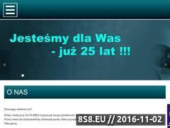 Miniaturka domeny www.alfamed24.eu