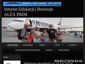 Zrzut strony ALFA PRIM alfabet brajla szkolenia