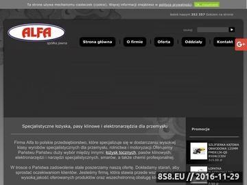 Zrzut strony Alfa Spółka Jawna - pasy zębate Iława