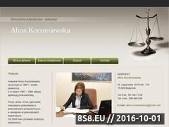 Miniaturka domeny www.alinakorzeniewska.pl