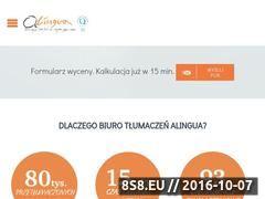 Miniaturka domeny www.alingua.pl