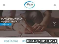 Miniaturka domeny www.alkonsystem.pl